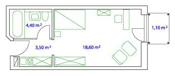 PLAN SINGLE-APARTMENT - 27 qm